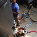 Double IPA - Sam connecting sparge mash